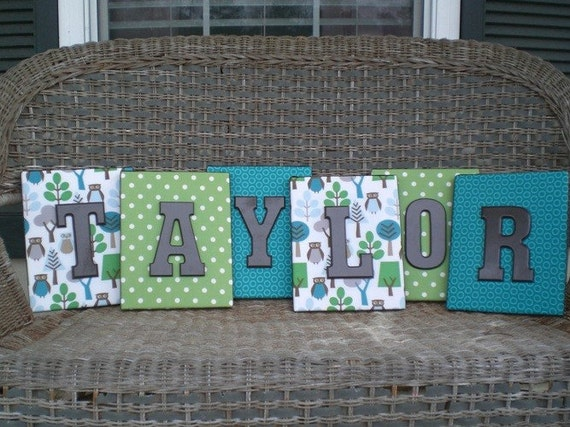 Listing for Blake, 4 Wall Letters, Dwell Studio Owl 8x10