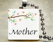 Mothers Day Tile Pendant with chain, ribbon/cord, key chain or Magnet