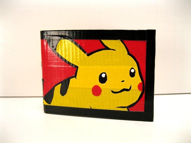 Pokemon Pikachu Duct Tape Wallet