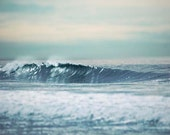 Surf Photography-Ocean waves, landscape, nautical home decor, ocean photograph, white, teal, gift for surfer, under 30