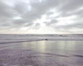 Nautical Photograph, Ocean Print, Grey, Silver, Coastal Decor, Water, Nautical Decor, California Beach Photograph, 8x10