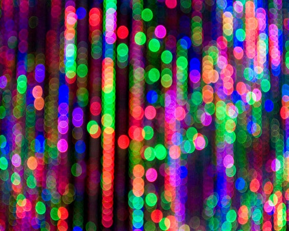Items Similar To Sale Abstract Bokeh Art Deco Print