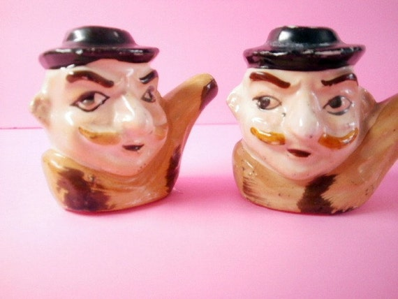 Little Toby Mugs Salt And Pepper Shakers Made In Japan