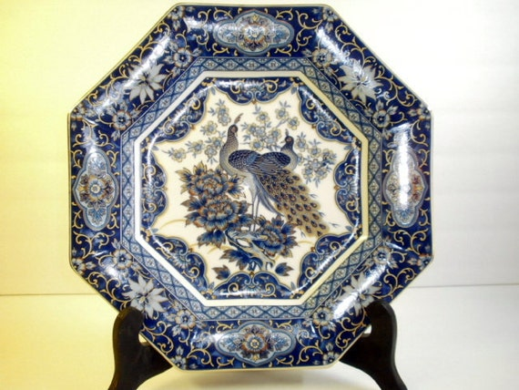Blue Imperial Peacock Plate