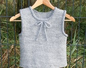 Organic felted vest  Gray  Eco Unisex - gift under 50