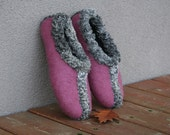 Woman slippers - felted slippers for woman - wool slippers - made to order - eco friendly -  Astrakhan - Christmas gift
