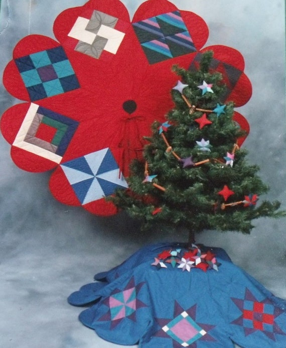 Two Amish Tree Skirts and Ornaments Pattern packet