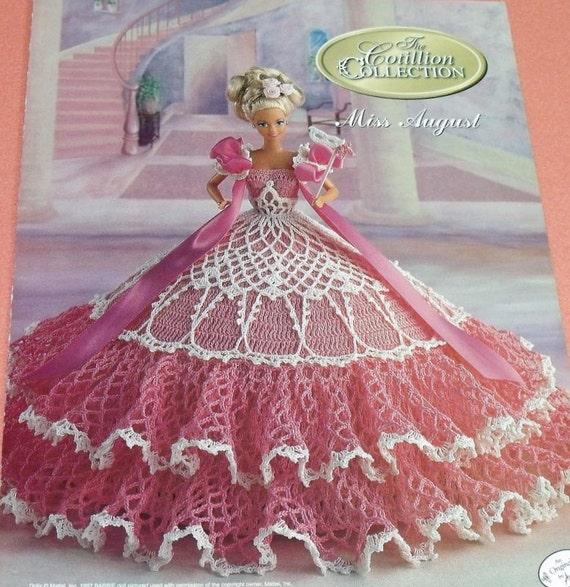 Crochet Patterns Doll Dresses : ... August Cotillion Crochet Barbie Doll Dress Pattern by Annies Attic
