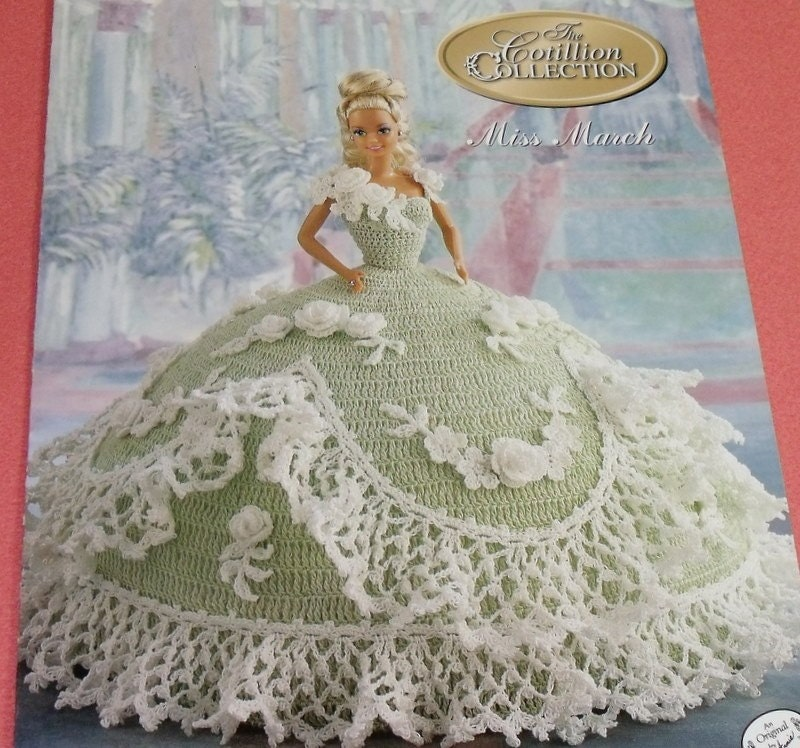 Crochet Patterns Online : Miss March Cotillion Crochet Barbie Doll Dress by 2oldhaggs