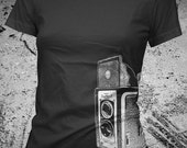 Camera Shirt Womens Vintage Twin Lens TLR American Apparel XXL