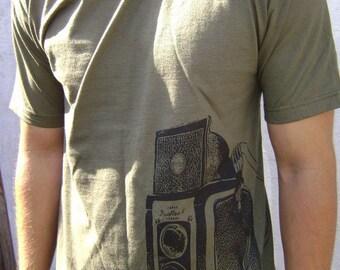 Camera Shirt Twin Lens shirt. Printed on ultra soft Ringspun cotton