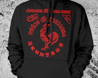Sriracha Hooded Sweat Shirt Black Hoodie