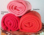 One Colorful Organic Cotton Thermal Baby Blankets, You Pick the Color From Mateacogreen