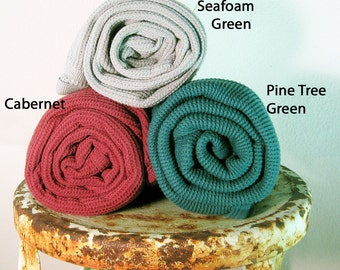 Two Colorful Organic Cotton Thermal Baby Blankets, You Pick the Colors From Mateacogreen