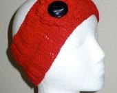 Red Headband - Ear Warmer