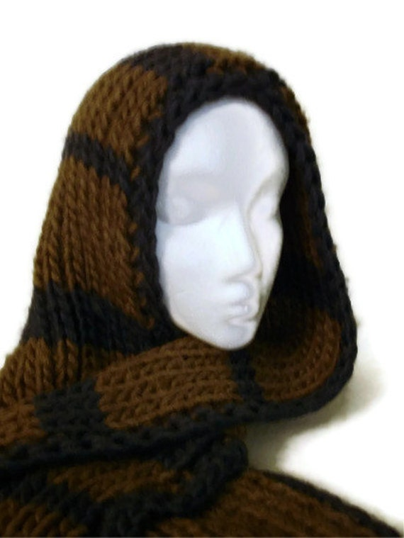 Hand Knit Hooded Scarf with Special Feature