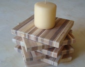 Repurposed Wood Coaster Wood Trivet FREE SHIPPING