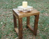 Wood Stool, Wood Side Table, Rustic Wood Stool, Reclaimed Wood, Side Table