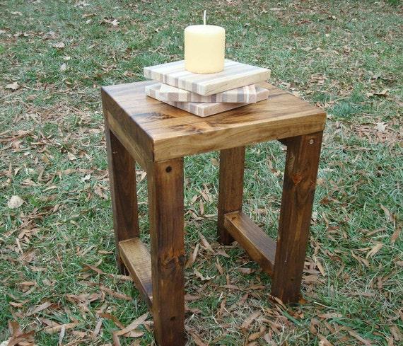Wood Stool Side Table