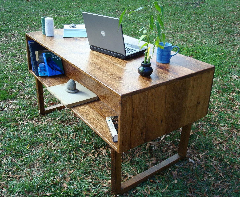 reclaimed wood desk office furniture by blueridgewoodworking