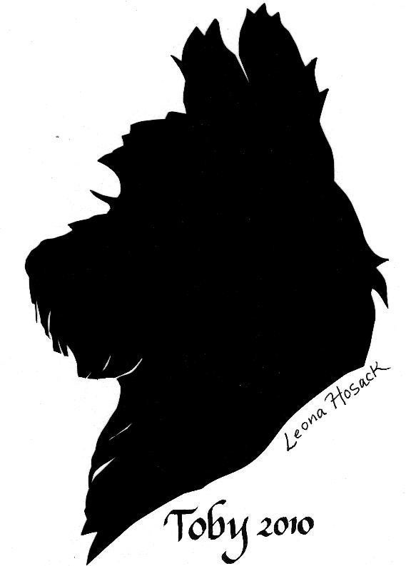 silhouette portrait of your dog or pet. Black Bedroom Furniture Sets. Home Design Ideas