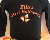 Personalized Halloween Candy Corn Tutu Set for babies up to little girls