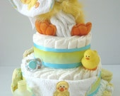 Just Ducky rubber duck gender neutral diaper cake