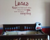 Custom Personalized Nursery Room Wall Quote Baby
