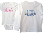 Personalized Sibling Shirts big and little brother and sister - you choose
