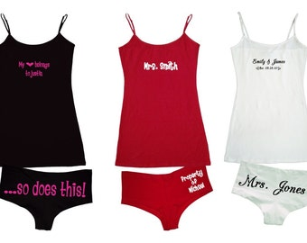Custom Personalized cami set underwear lingerie undies Valentine's Gift
