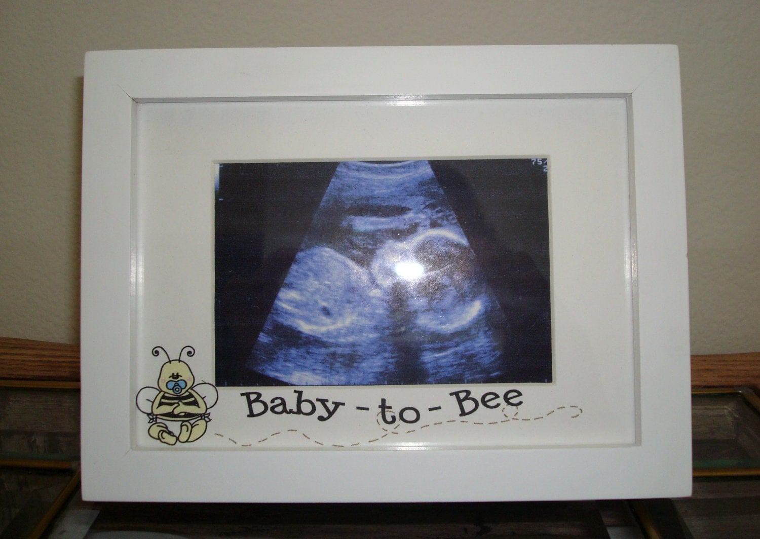 Baby to bee ultrasound picture frame pregnancy announcement zoom negle Image collections