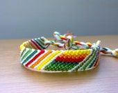 Friendship Bracelet - Vertical and Diagonal Stripes, made to order