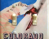 COLORADO Tops Vintage Ski Poster Switch Plate (single or double) ***FREE SHIPPING***
