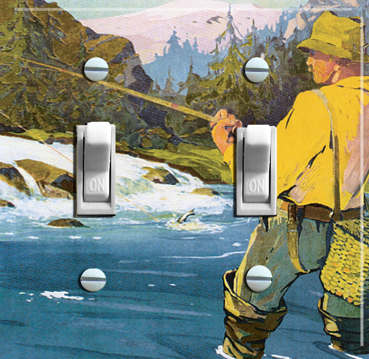Fly fishing vintage swedish poster switch by for Fly fishing posters