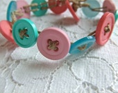 Button Bracelet- Salt Water Taffy