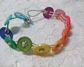 Hannah- Button Bracelet