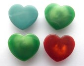 Vintage buttons - 4 x Hearts