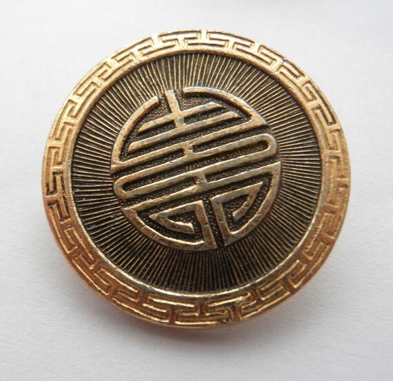 Vintage buttons - Chinese Gold