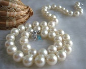 Pearl Necklace - 18 inches 8.0-8.5mm White Round AAA Freshwater Pearl Necklace - Free shipping