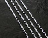 40 Inch Sterling Silver 1.2mm Rolo Chain With Spring Clasp - Any Length Available
