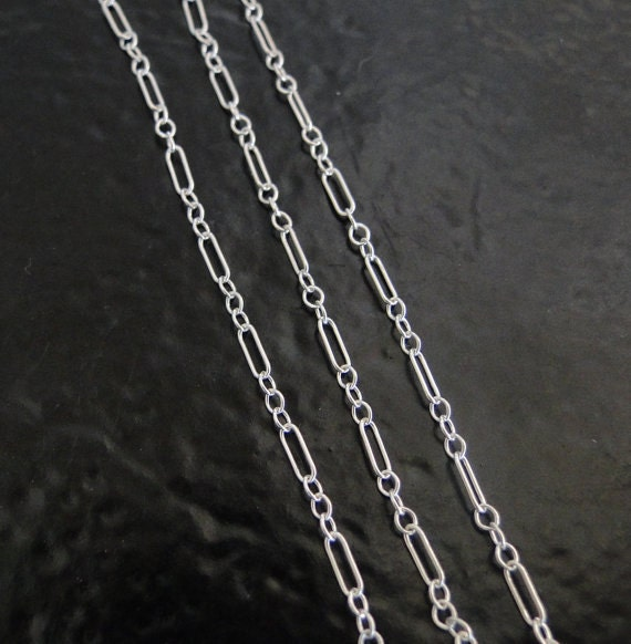 32 Inch Sterling Silver Long and Short Chain With Spring Clasp - Any Length Available