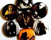 Nosferatu (1922) vampire - Set of 7 - 1 inch pinback buttons