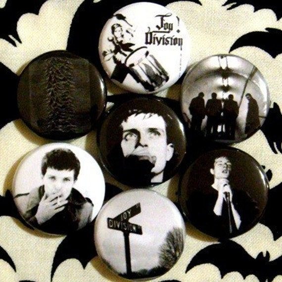 Joy Division - Set of 7 - 1 inch pinback buttons