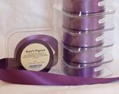 6 spools of Purple Ribbon