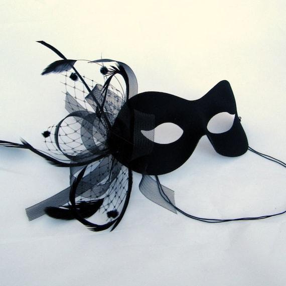 Black Birdcage Veil  Masquerade Masked Ball Mask