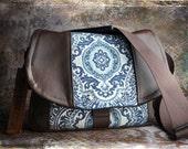 Pre-Order - New Design - Blue Medallion and Leather DSLR Camera Bag
