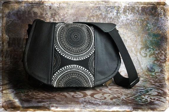 Pre-Order -  Circles and Leather DSLR Camera Bag - Medium