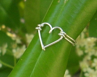 Silver wire Heart ring