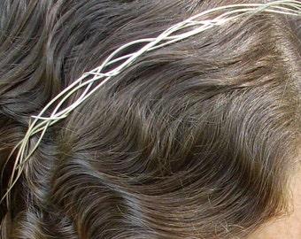 Silver wire HeadPiece/Tiara.