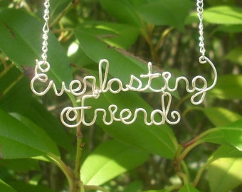 Everlasting Friend, silver wire necklace